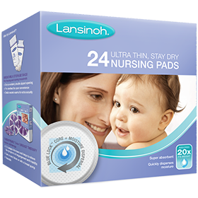Lansinoh® ULTRA THIN, STAY DRY NURSING PADS with super absorbent BLUE LOCK™ core
